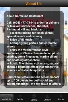 Carmelina Restaurant apk screenshot
