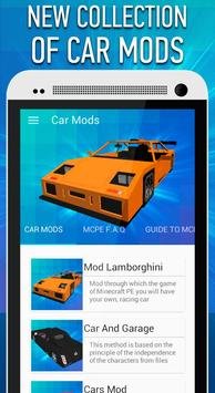 Car Mods for Minecraft PE poster