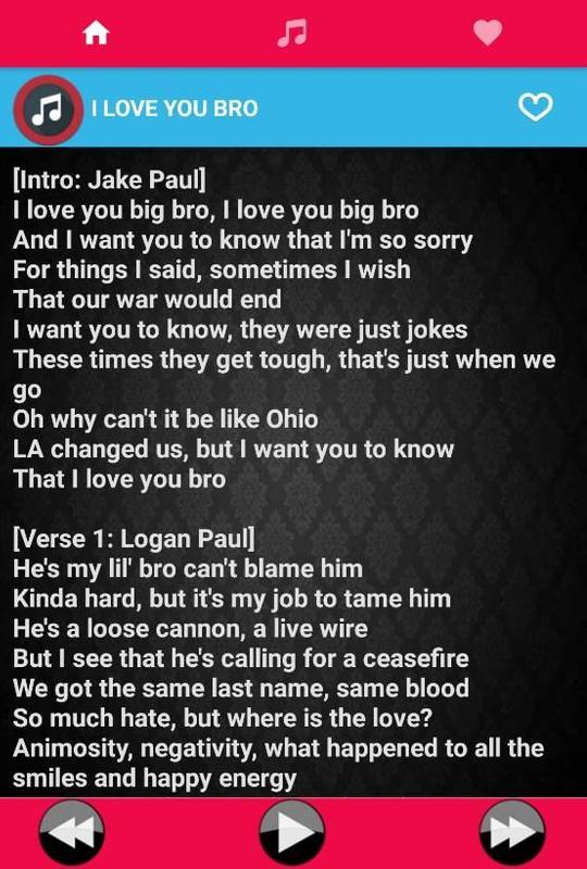 i love you bro lyrics