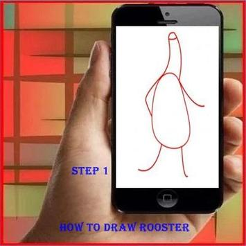 How to Draw a Rooster poster