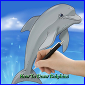 How to Draw a Dolphin icon