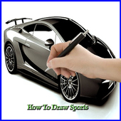 How to Draw a Sports Car icon