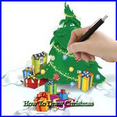 Drawing Christmas icon