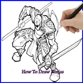How to Draw a Ninja icon