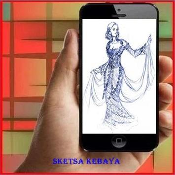 How to Draw Sketches Kebaya poster