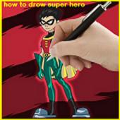 How to Drow Super Hero icon