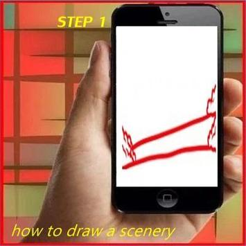 How to Draw a Scenery poster