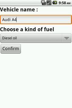 Fuel conso apk screenshot