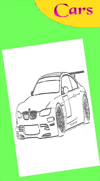 Free Car Coloring Pages | 580x320