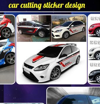 Car Cutting Sticker Design poster