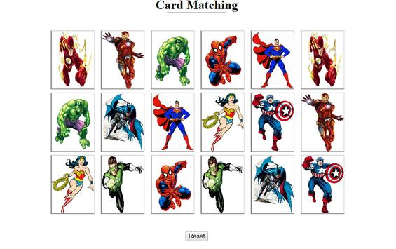 Card Matching poster