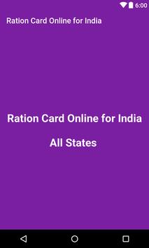 Ration Card online for India poster