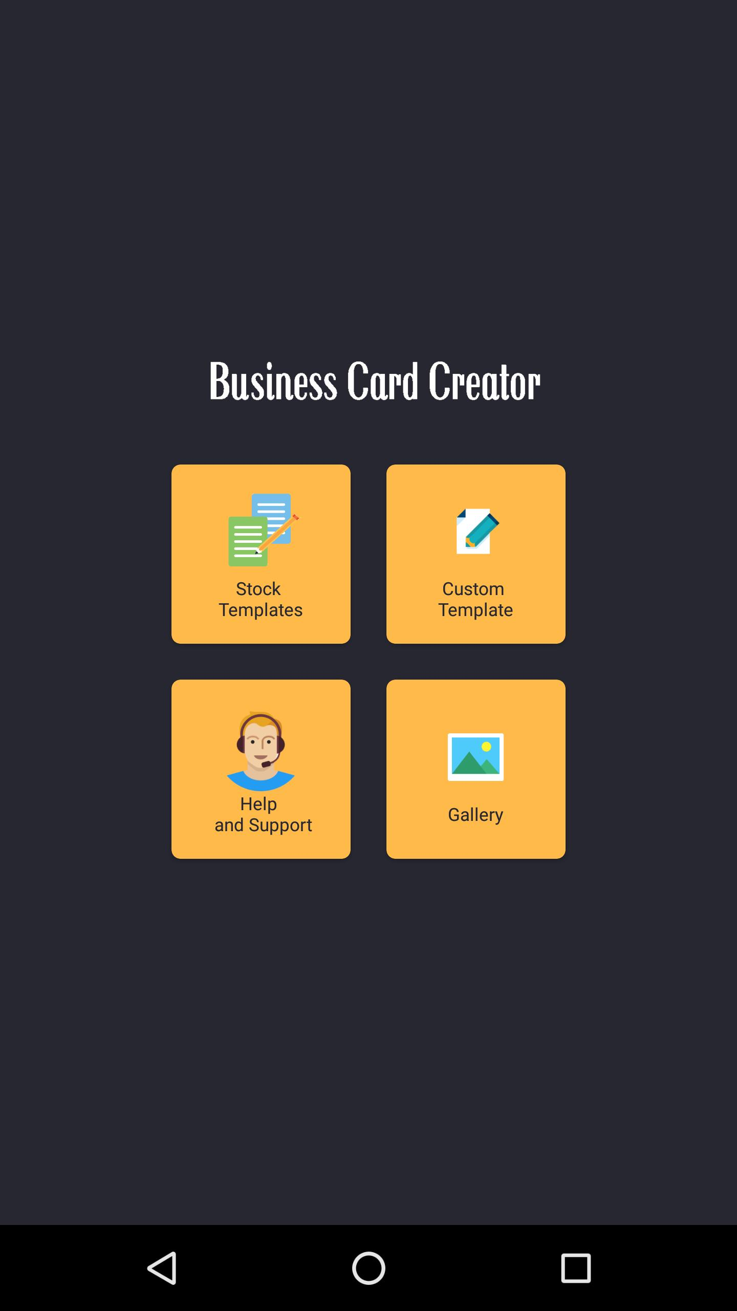 Business Card Creator poster
