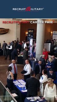RecruitMilitary Career Fair + poster