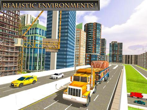 Giant Cargo Truck Simulator: 8x8 Monster Truckers poster