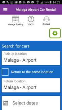 Malaga Airport Car Hire Rental poster