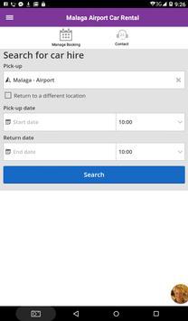 Malaga Airport Car Hire Rental apk screenshot