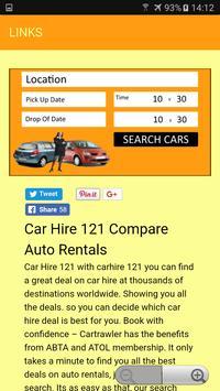 CAR HIRE 121 poster