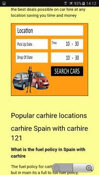 CAR HIRE 121 apk screenshot
