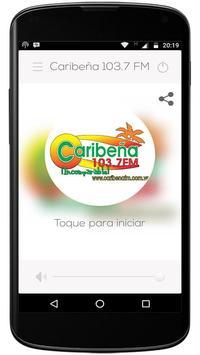 Caribeña 103.7 fm poster