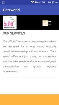 Carz World Travel apk screenshot