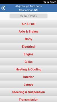 Albuquerque Foreign Auto Parts screenshot 1