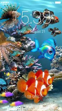 Aquarium lock screen apk screenshot
