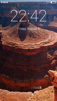 Canyon lock screen screenshot 3