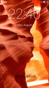 Canyon lock screen poster