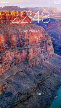 Canyon lock screen screenshot 4