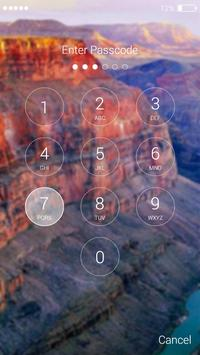 Canyon lock screen screenshot 6