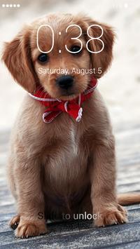 Puppy lock screen poster