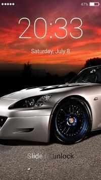 Racing car lock screen apk screenshot