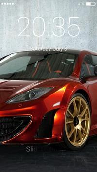 Racing car lock screen poster