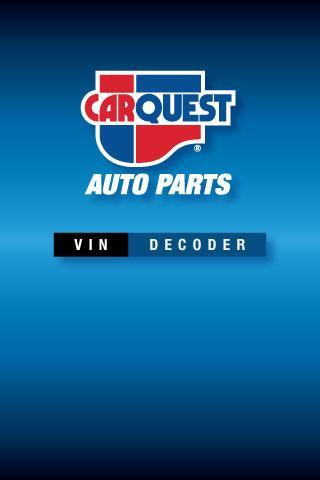 Carquest Vin Decoder For Android Apk Download