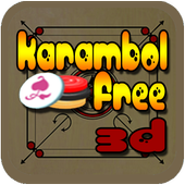 Carrom (Karambol) 3D icon