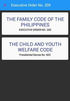 Family Code of the Philippines apk screenshot