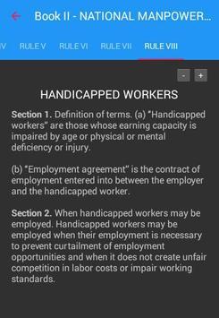 Labor Code of the Philippines apk screenshot