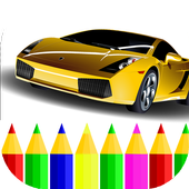 American Cars Coloring Book icon