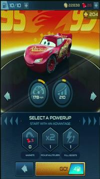 Guide Cars Lightning McQueen Race poster