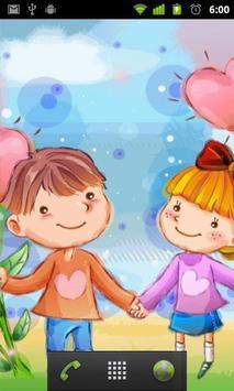 cartoon love wallpaper screenshot 1