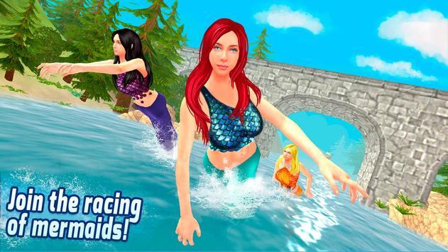 Diving Mermaid Swimming Race poster