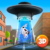 Cartoon Alien UFO Simulator 3D icon