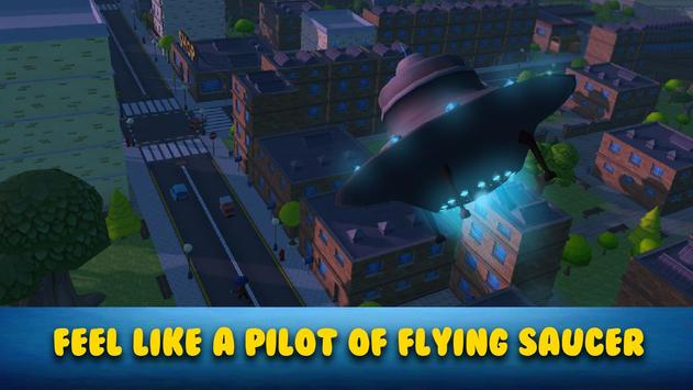 Cartoon Alien UFO Simulator 3D poster