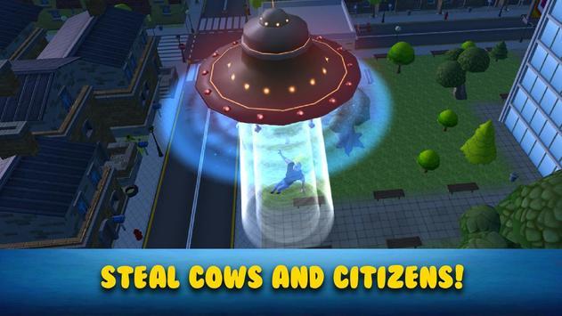 Cartoon Alien UFO Simulator 3D screenshot 1