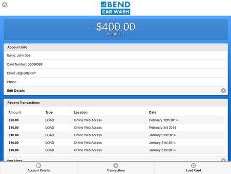 Bend Car Wash apk screenshot