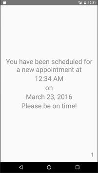 I Have An Appointment apk screenshot