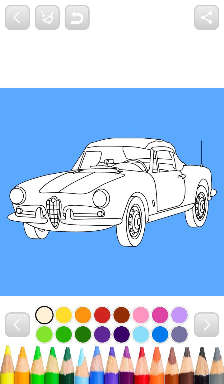Italian Cars Coloring Pages For Android APK Download