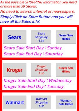 Weekly Sale Ads For 60 stores, Sales ads Links poster