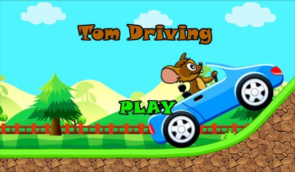 Tom Driving Car poster